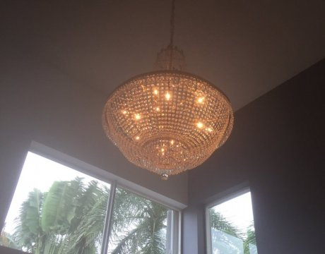 Interior Remodeling for Miramar Home with New Chandelier