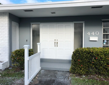 Front Door after House Painting in Pembroke Pines