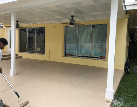 Painting Company in Miramar Painting a Patio