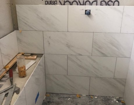 Custom Tilework in Bathroom Renovation in Hollywood, FL