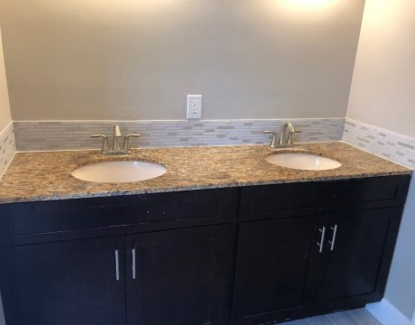 Double Sink Bathroom Vanity Remodel in Miramar, FL