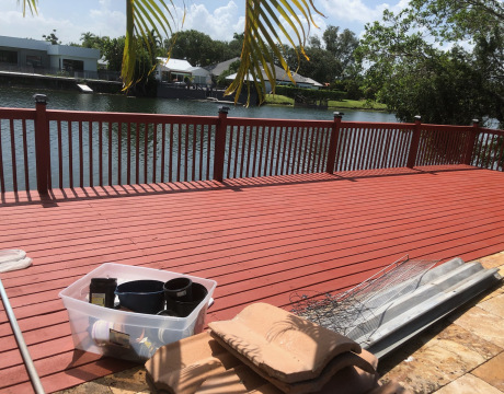 Deck Built in Weston